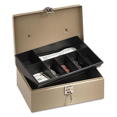 PM Company® Lock'n Latch Steel Cash Box
