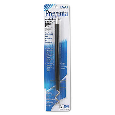 PM Company - Snap-on Refill for Preventa Deluxe Counter Pen, Medium Point - Black Ink