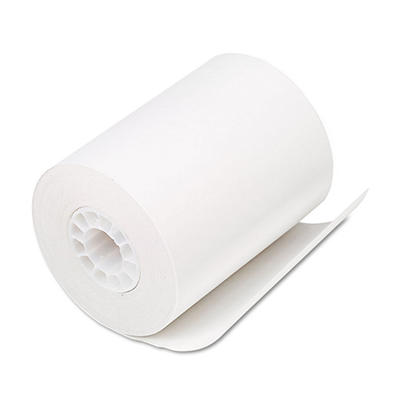 "PM Company - Single-Ply Thermal Cash Register/POS Rolls, 2-1/4"" x 80 ft., White - 50/Carton"
