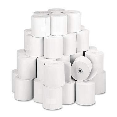 PM Company - Single-Ply Thermal Cash Register/POS Rolls, 3-1/8