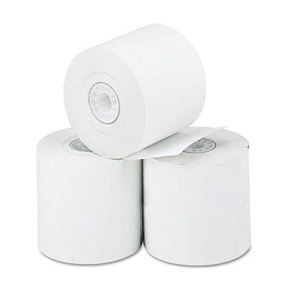 "PM Company - Thermal Paper Rolls, Cash Register/Calculator, 2-1/4"" x 165 ft, White - 3/Pack"
