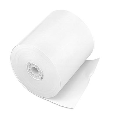 "PM Company - Single-Ply Cash Register/POS Rolls, 3"" x 150 ft., White - 50/Carton"