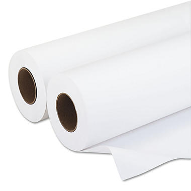 "PM - Wide-Format Rolls, Inkjet Paper, 20 lbs., 3"" Core, 36""x500 ft, White, 2 per Carton"