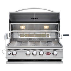 Cal Flame 60,000 BTU 4-Burner Stainless Steel Convection Grill and Rotisserie