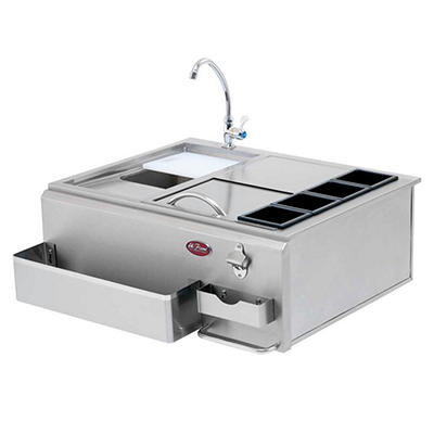 """Cal Flame 30"""" Built-In BBQ Stainless Steel Bar Center"""