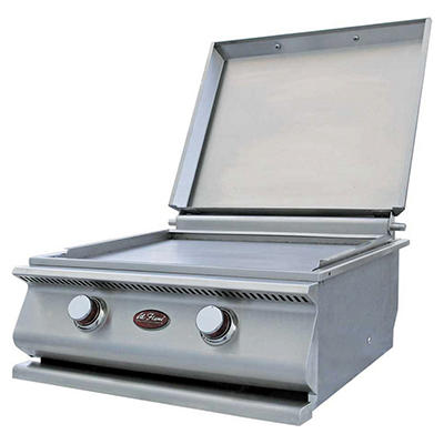 Cal Flame 15,000 BTU Built-In Stainless Steel BBQ Hibachi Flat Top Grill