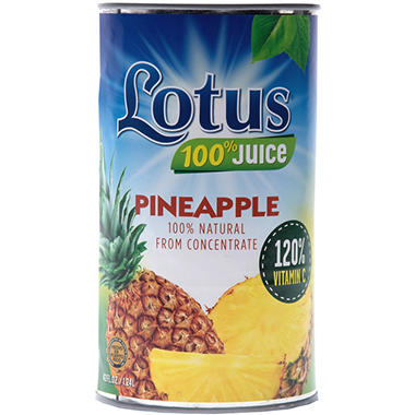 Lotus Pineapple Juice - 46 oz. - 12 pk.