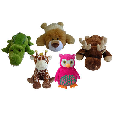 24-40 Inch Floppy Plush Animals - 5 Assorted Styles to Choose From