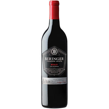 +BERINGER MERLOT FOUNDER ESTATE 750ML