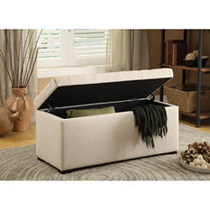 Sahara Tufted Storage Ottoman (Various Colors)