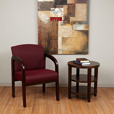 Office Star - Mahogany Finish Wood Visitor Chair - Ruby