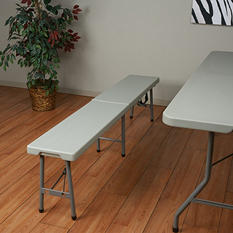 Work Smart Fold In Half Bench - 6' - White