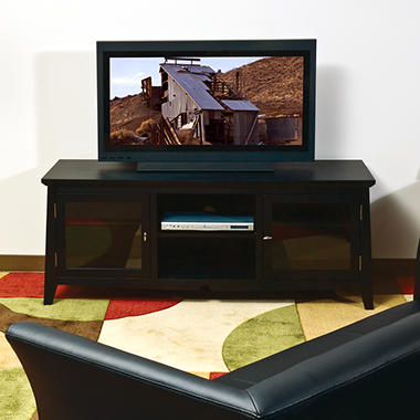 "OSP Designs 60"" TV Stand with Side Folding Construction."
