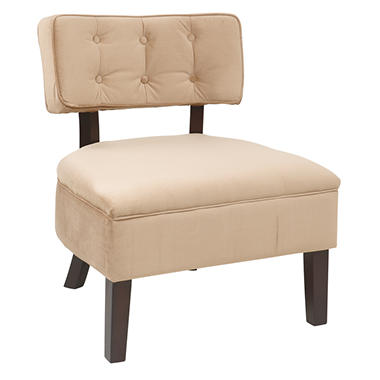 Avenue Six Curves Button Chair - Coffee Velvet
