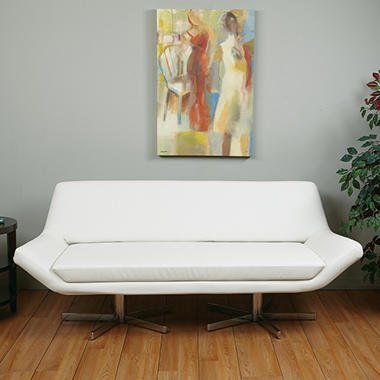 "Avenue Six Yield 72"" Loveseat - White Vinyl"