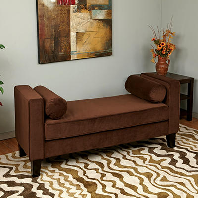 Avenue Six Curves Bench - Chocolate Velvet