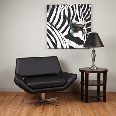 "Avenue Six Yield 40"" Wide Chair - Black Vinyl"