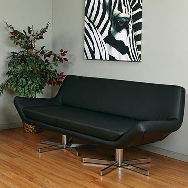 "Avenue Six Yield 72"" Loveseat - Black Vinyl"