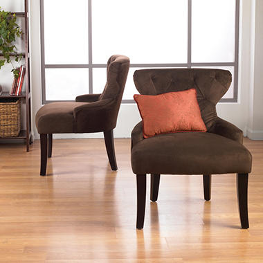 Avenue Six Curves Hourglass Chair - Chocolate Velvet