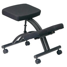 Office Star Work Smart Ergonomic Knee Chair with Casters, Black