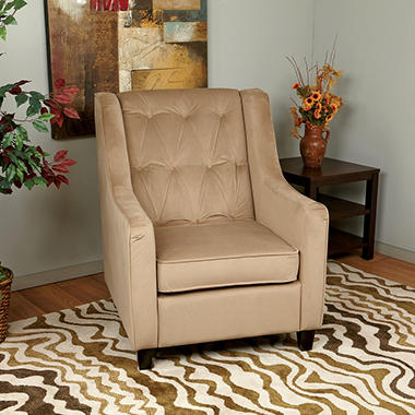 Avenue Six Curves Tufted Chair - Coffee Velvet