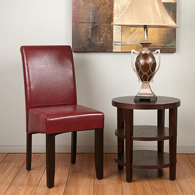 OSP Designs Parsons Dining Chair - Crimson Red.