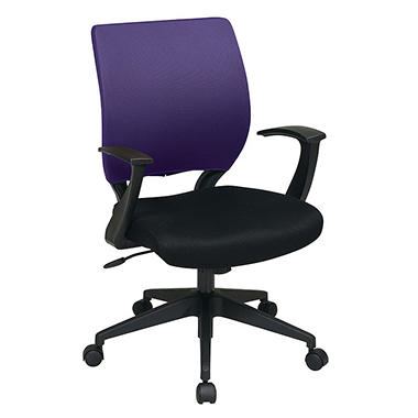 Office Star Mesh Chair Cover for Screen-Back Task Chair - Purple