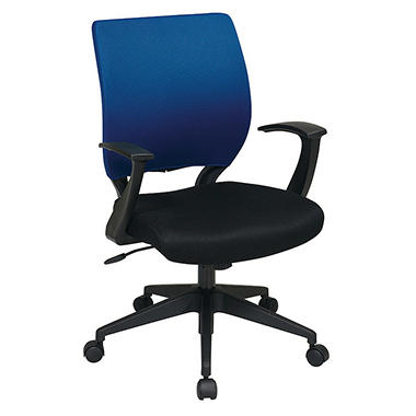 Office Star Mesh Chair Cover for Screen-Back Task Chair - Blue