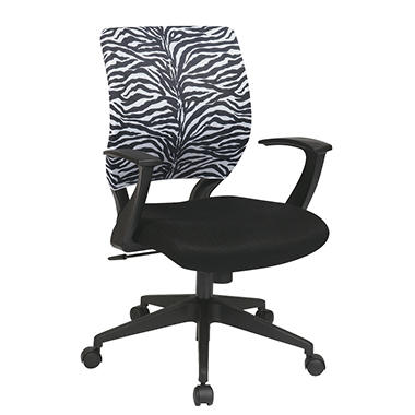 Office Star Mesh Chair Cover for Screen-Back Task Chair - Zebra Print
