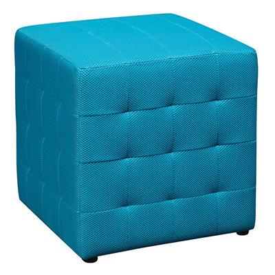 """Avenue Six Detour 15"""" Fabric Cube - Blue"""