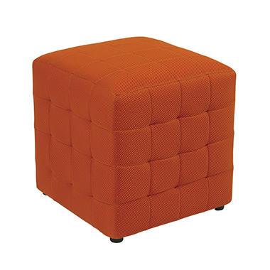 "Avenue Six Detour 15"" Fabric Cube - Orange"