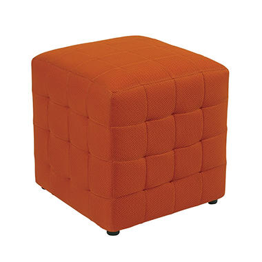 "Avenue Six Detour 15"" Fabric Cube - Orange"