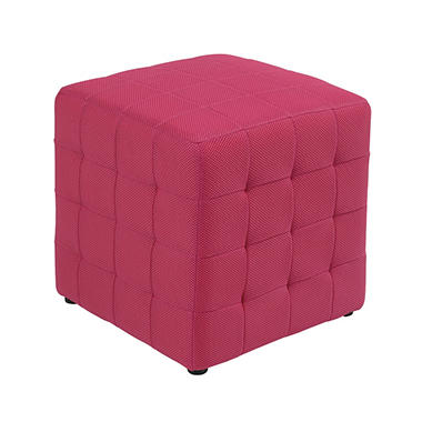 "Avenue Six Detour 15"" Fabric Cube - Pink."