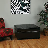 Avenue Six Detour Storage Ottoman with Tray - Espresso