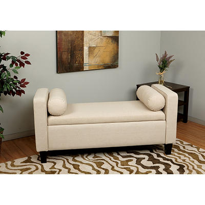 Bassett Cordoba Storage Bench - Cream