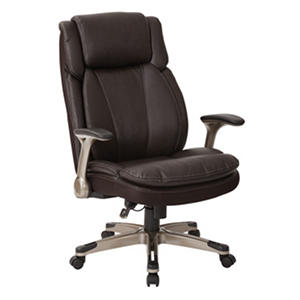 Newman Executive Chair with Filp Arms, Espresso