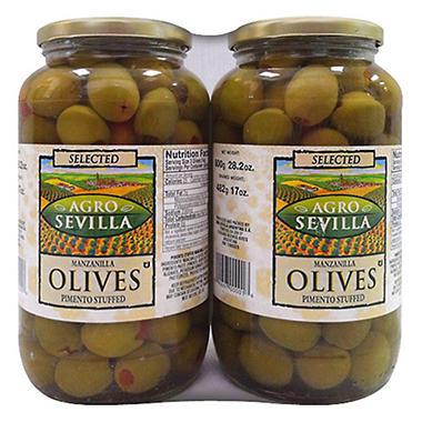 Agro Sevilla Stuffed Manzanilla Olives - 2/17 oz.