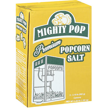 Mighty Pop Premium Popcorn Salt - 2/35oz cartons