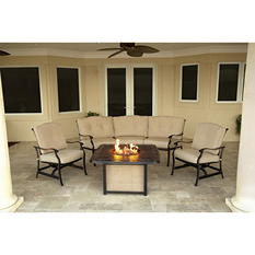 Traditions 4-Piece Lounge Set With 30,000 BTU Fire Pit Table