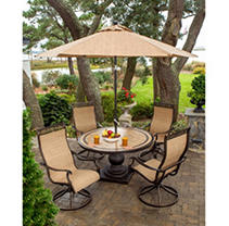 Click here for Monaco 5 Pc. Dining Set - Four Swivel Rockers and... prices