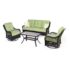 Orleans 4-Piece All-Weather Patio Set, Multiple Color Choices