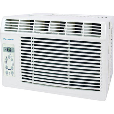 "Keystone Energy Star 5,000 BTU 115V Window-Mounted Air Conditioner with ""Follow Me"" LCD Remote Control"