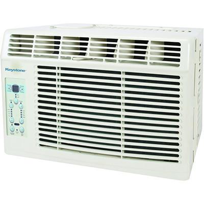 "Keystone Energy Star 6,000 BTU 115V Window-Mounted Air Conditioner with ""Follow Me"" LCD Remote Control"