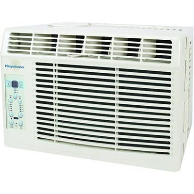 "Keystone Energy Star 6,000 BTU 115V Window-Mounted Air Conditioner with ""Follow Me"" LCD Remote Control"