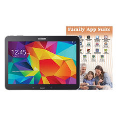 "10.1"" Galaxy Tab 4 - 16GB Black w/ Family App Suite Software"