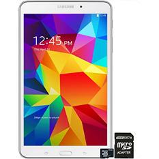 "7"" Samsung Galaxy Tab 4 - 8GB White w/ 16GB microSD Memory Card"