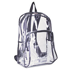 Eastsport - Backpack, PVC Plastic, 12 1/2 x 5 1/2 x 17 1/2 -  Clear/Black