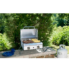 Portable Stainless Steel Gas Grill with Cover