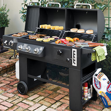 Hybrid Grill Infrared, Propane Gas and Charcoal Cooking System