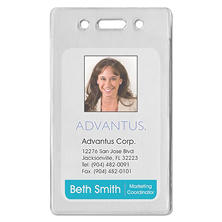 Advantus Proximity ID Badge Holder - Vertical - 50 pk.